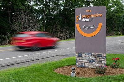 Progressive Dental Street sign
