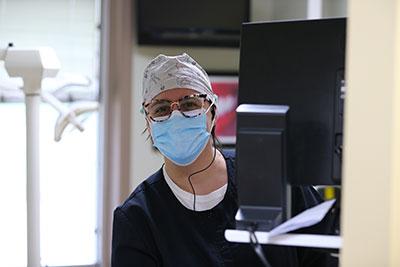 Dr. Jen in the hallway